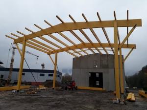 Structure Bois - bâtiment artisanal Doussard
