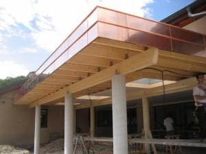 Structure bois préau d'école
