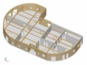 Structure bois crèche