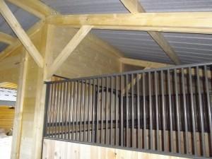 Structure bois box à chevaux