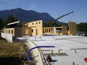 Structure bois groupe scolaire