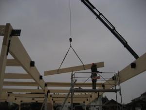 Structure bois réfectoire d'école