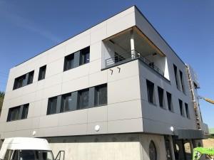 Structure bois - Murs rideaux Bât. Bureaux La Roche